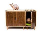 Modular Cabinet Set // Mid Century Modern Pet Furniture // Cat Litter Box Cover // Pet House // Credenza