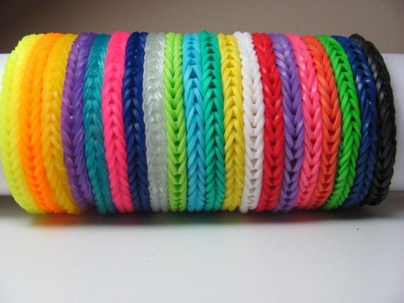rainbow loom bracelet fishtail pattern solid colors you choose