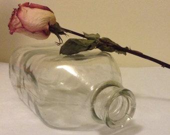 Vintage Glass Milk Bottle Half Gallon Farmhouse Decor Flower Vase