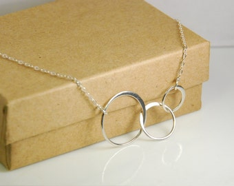 Sterling silver necklace, infinity necklace, circle necklace, entirely made with sterling silver, 0.925 silver necklace, wedding necklace