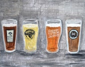 memphis art, memphis beer, craft beer, beer art, man cave art, wiseacre, memphis made, Memphis Brew Brothers Craft Beer Breweries Art Print