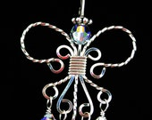 Angel Pendant in Sterling Silver with Swarovski Elements          PTJ272