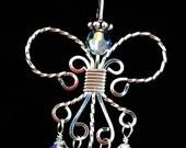 Angel Pendant in Sterling Silver with Swarovski Elements          PTJ272