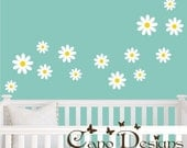 Daisies 14 set, Vinyl wall decals stickers, nursery, kids & teens room, removable decals stickers