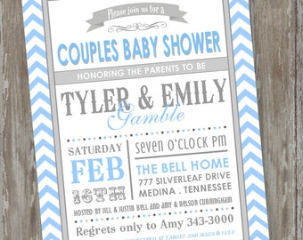 "Baby Shower invitations - Digital file ""Subway art baby"" design"