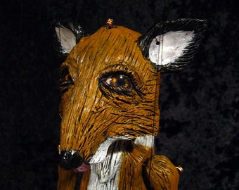 Made-to-order.   Fox marionette, hand-made, OOAK