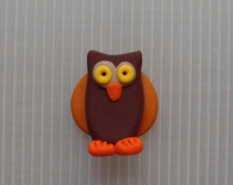 polymer clay owl magnet