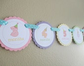 Birthday Number: Just Born/0-12month First Birthday Photo Picture Banner with clips to hang 4x6 pictures. Party Hats.