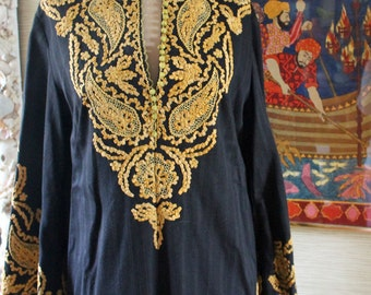 Fab Vintage 60s 70s Embroidered CAFTAN...So Talitha Getty