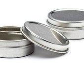 24 Round Steel Tins 2oz SHALLOW
