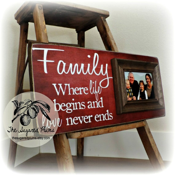 Wedding Gift Quotes: Items Similar To Personalized Family Name Signs, Picture