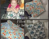 Kids, Pillow Blanket Pattern Tutorial, pdf.