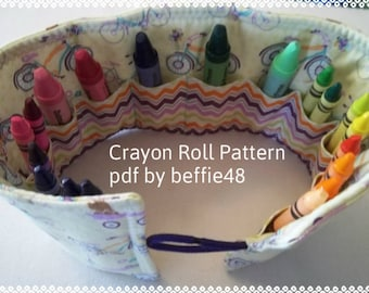 PATTERN, Kids Crayon Holder,Tutorial Pattern, pdf file w photos