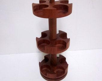 DIGSMED   Spice Rack Rotating Wheel  Danish Modern TEAK wood Danmark Denmark mid century modern