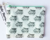 purse wallet small cat coin purse - kitty pouch