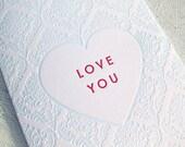 Letterpress Valentine - Love You
