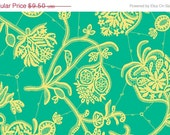 CLOSING SHOP Amy Butler Lark Collection Fabric Yardage - Souvenir - Mineral Green - 1 Yard