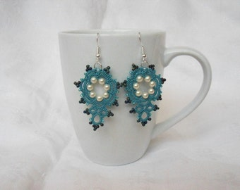 Mimosa - Lace Earrings (Country Turquoise)