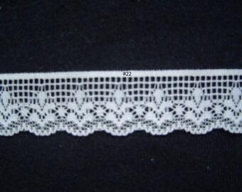Lace Ecru 1 inch Lingerie Sweater Skirts Slips 5 yds Item 22