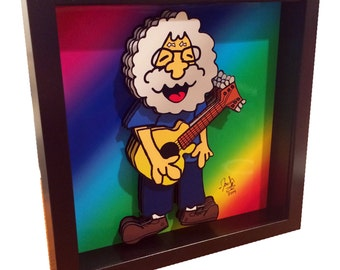 Jerry Garcia Art The Grateful Dead Poster Art 3D Pop Art Print Artwork