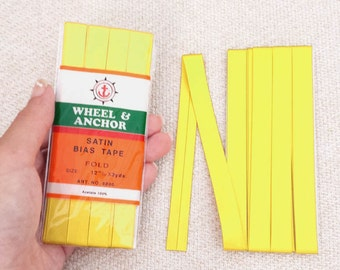 Satin Bias Tape - Sunshine Yellow
