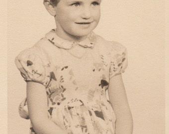 Little Gal -Vintage Photograph (1F)