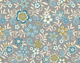 Serenata Floral Gray by Samantha Walker for Riley Blake, 1/2 yard
