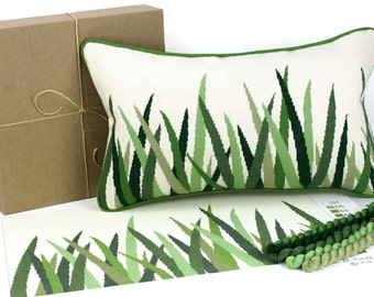 green grasses needlepoint kit - diy - modern - contemporary