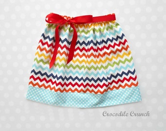 Rainbow Chevron Skirt