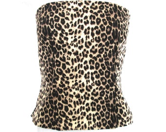 90's Animal Cropped Bustier size - M