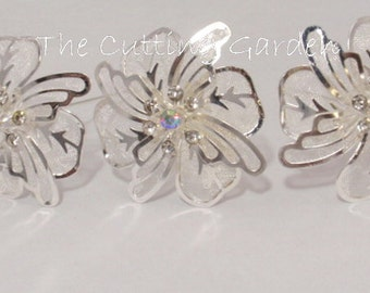 "Corsage / Boutonniere Pins - Kara's Kisses 3"" Wildflower Pick Silver -  3 Pack"
