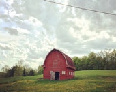 Rustic Red Barn 5x5 iPhone Photography Print | FREE SHIPPING