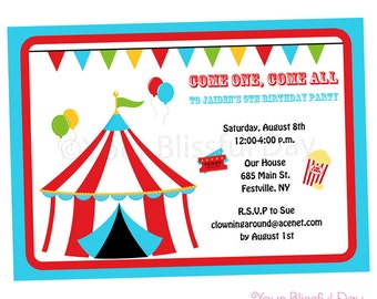 PRINTABLE Carnival Party Invitations #518