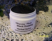 Black Drawing Charcoal Herbal Salve - Old Fashion Natural - 2oz size
