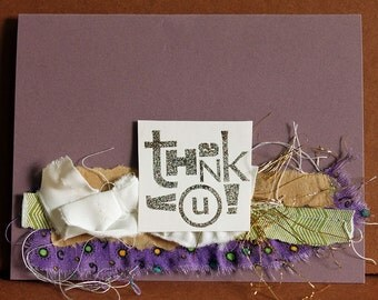 Thank you collage card blank inside
