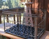 Wire Milk Crate - Rustic Metal Basket