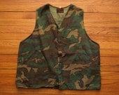 mens vintage camo hunting vest