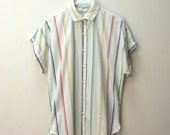 1980's Striped Winners Choice Button Down