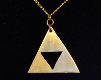 Triforce Pendant - Handmade - Metalwork