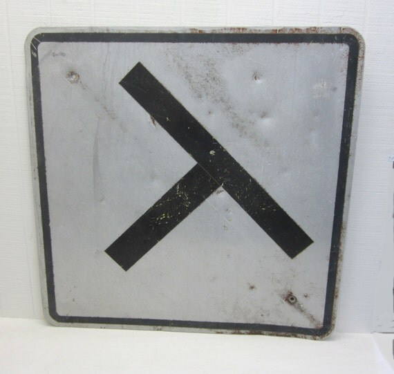 Vintage Highway ...Y Intersection Sign