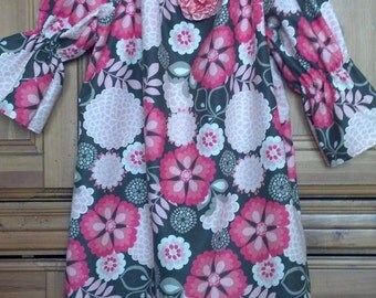 girls size 5 Peasant style dress 3/4 sleeve Easter Dress