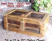CEDAR CHEST-1/2 Size - Country Primitive - - FREE SHiPPiNG ~ RiGHT NoW! - Toy-Kindling-Tool Box-Storage-Etc - C Details