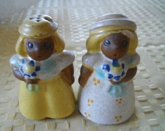 SBC Effie Mae and Timothy Salt and Pepper Shakers - Collectible, Vintage, Rare