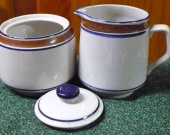 Salem Stoneware - Cream & Sugar Bowl W/ Lid - EUC - Price Is For All - Read Below