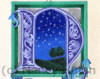View Illuminated Letters by ArteOfTheBooke on Etsy
