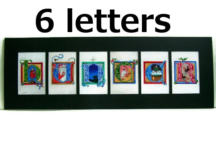 four pictures one word six letters six letter with 6 letters in illuminated letter 44881