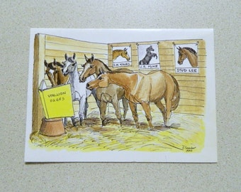 Stallion Pages card by FurSure  1991