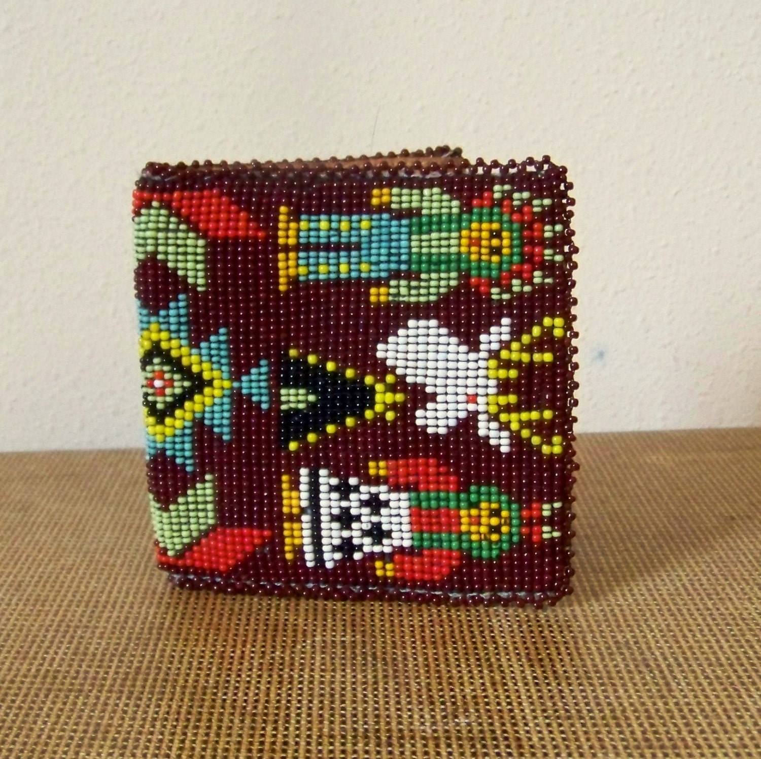 Mens Native American Beads: Beaded Native American Southwestern Wild West Unisex Wallet
