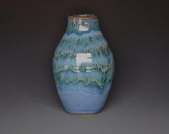 Blue Ceramic Vase Stoneware Pottery Vase A