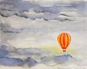 Original watercolor Happiness is Fragile